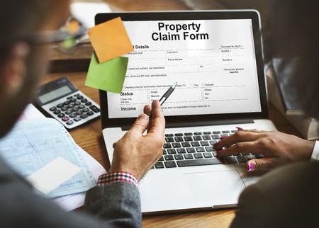 orden de compra: Property Claim Form Payslip Purchase Order Concept