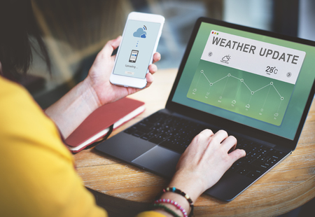 Weather Report Data Meteorology Concept Stok Fotoğraf