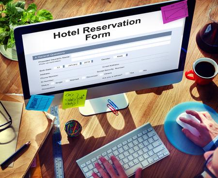 reservation: Hotel Booking Reservation Form Concept