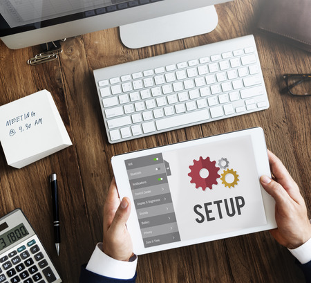 config: Setup Settings Configuration Tools Concept Stock Photo