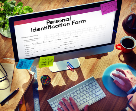 shopping questions: Personal Identification ID Form Concept