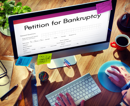 bankruptcy: Petition Bankruptcy Debt Loan Overdrawn Trouble Concept