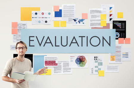 commenting: Evaluation Opinion Report Suggestion Feedback Concept Stock Photo