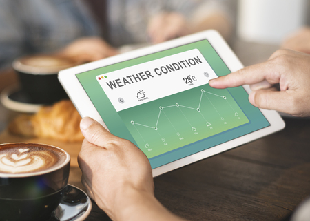 weather report: Weather Report Data Meteorology Concept Stock Photo