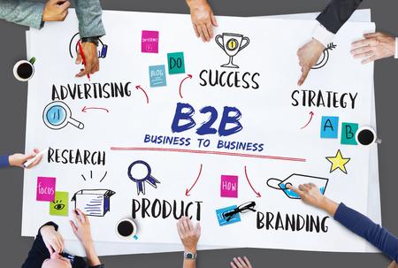 b2b: B2B Goal Investment Plan Diagram Concept