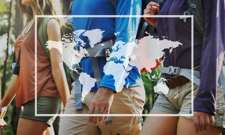 global village: Global Community Networking World Village Concept Stock Photo