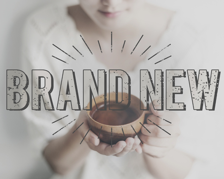 release: Brand New Release Latest Innovation Contemporary Concept Stock Photo