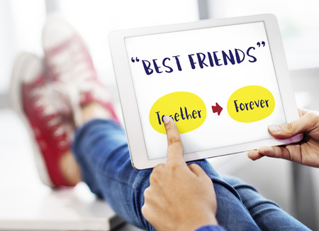 positivity: Relaxing Positivity Friendship Forever Concept