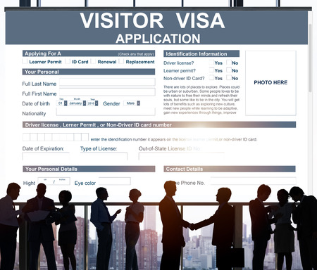 visa: Visitor Visa Application Immigration Concept