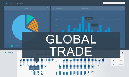 global trade: Business Analysis Data Global Trade Graphic Concept
