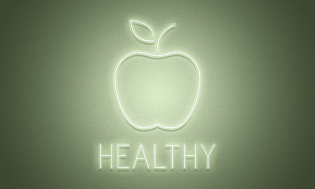 An apple with health concept