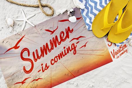 Summer Break Fun Party Banner Concept Stock Photo
