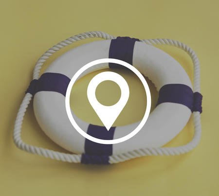distance marker: Distance Marker Positioning Navigation Icon Concept Stock Photo