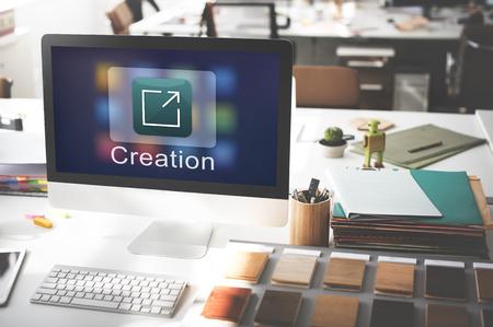 design tools: Creation Design Digital Gadget Invention Graphic Concept Stock Photo