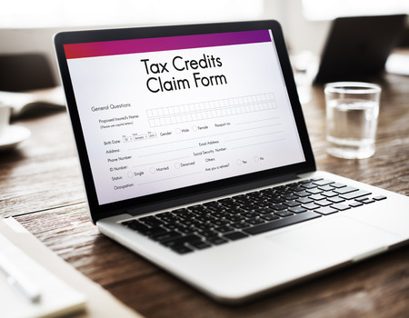 electronic survey: Tax Credits Claim Form Concept