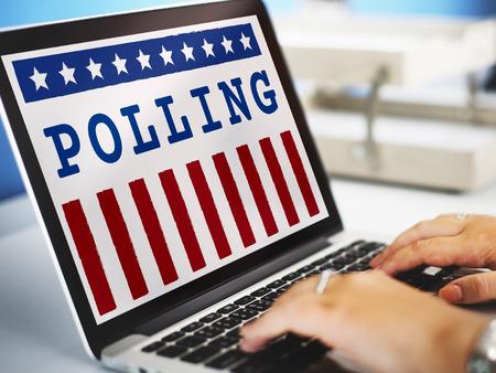 encuestando: Referéndum Gobierno Política Democracia Concepto votar Foto de archivo