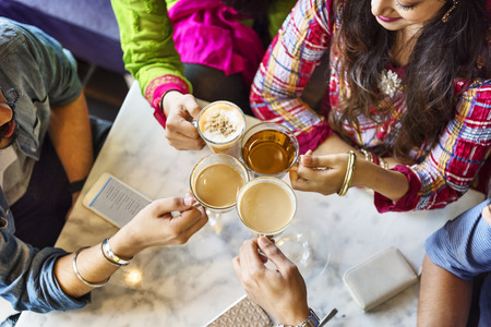 Cup Tasse Tee, Kaffee, Café Trinken Restaurant-Konzept Standard-Bild - 63936387