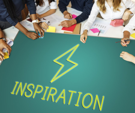 career timing: Teamwork Imagination Solution Ideas Concept Stock Photo