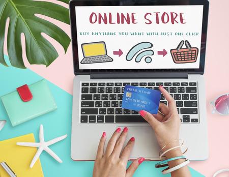 web shop: Online Shopping Web Shop E-shopping Concept