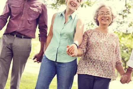 pensioner: Diversity Friendship Older Elderly Pensioner Concept