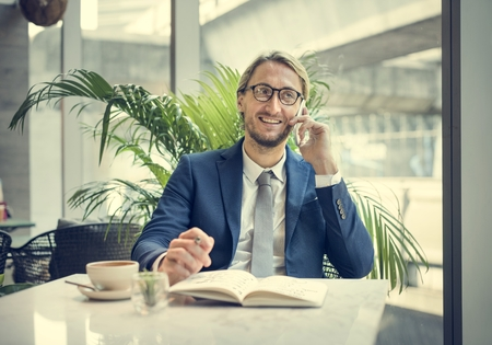 Businessman Working Thinking Business Concept Stock Photo