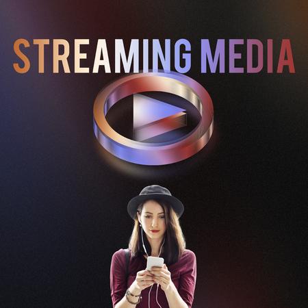 live stream listening: Digital Music Streaming Online Entertainment Media Concept