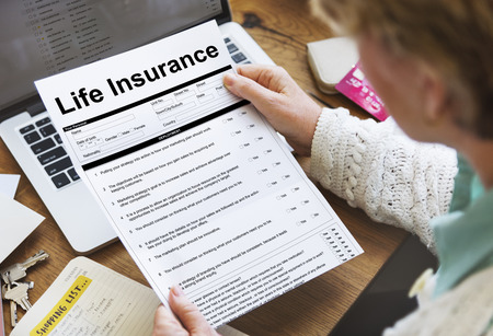 questionaire: Life Insurance Policy Terms of Use Concept