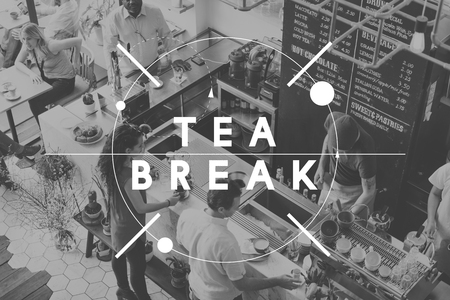 snack time: Tea Break Simmer Down Snack Time Rest Pause Concept