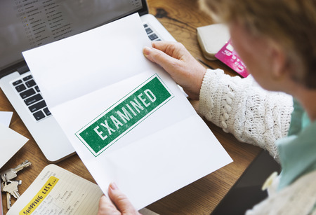 Examined Authorised Certified Verified Approve Concept Stock Photo