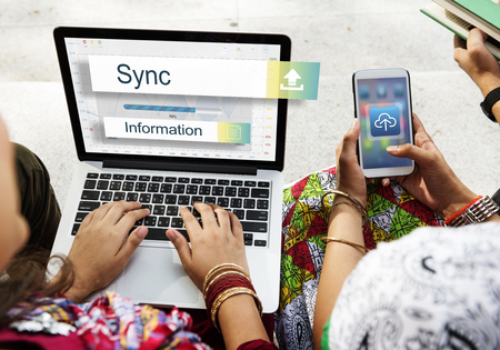 sync: Sync Data Backup Storage Transfer Concept