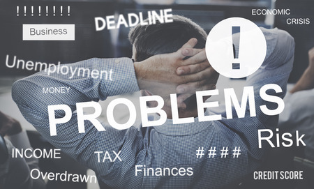 concern: Business Problem Concern Worried Graphic Concept