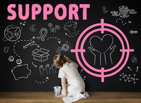 donacion de organos: Las donaciones de la Fundación Dar Ayuda Bienestar Concepto Caridad Foto de archivo