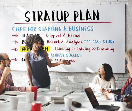 business support: Business Plan Strategy Success Goals Research Concept