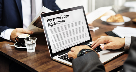 personal loan agreement banking credit contract concept stock photo 63957713