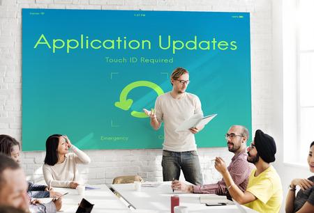 updates: Application Updates Upgrade New Version Concept
