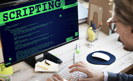 computer language: Scripting Computer Language Code Programming Developer Technology Concept Stock Photo