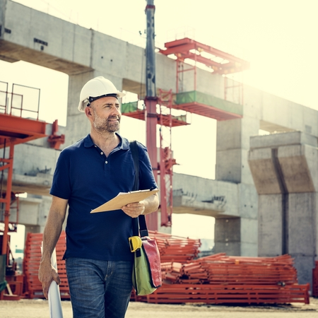 building safety: Architecture Construction Safety First Career Concept Stock Photo