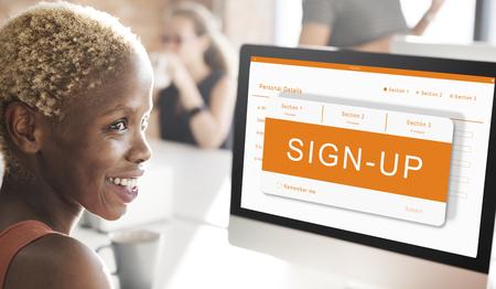 オンライン申請登録フォーム グラフィック コンセプト