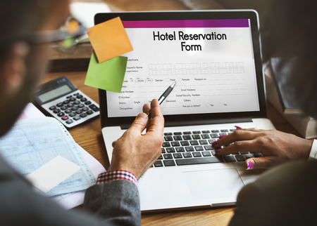 Hotel Booking Reservation Form Concept Stock Photo, Picture And