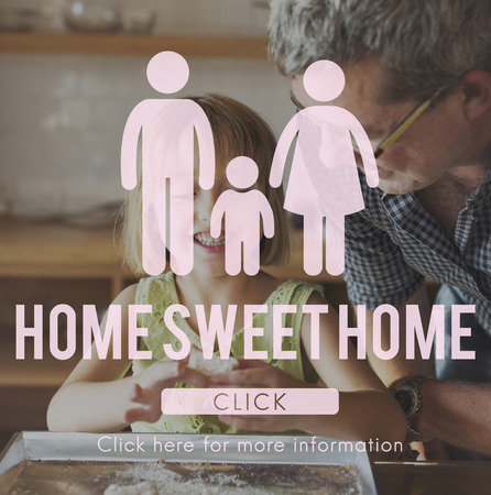 grand daughter: Family Care Genealogy Love Related Home Concept Stock Photo