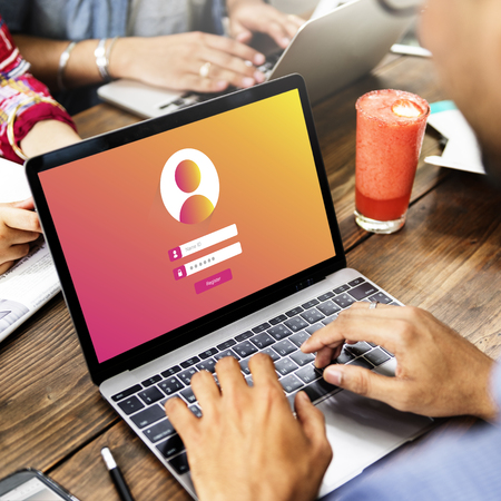 Se connecter Utilisateur Mot de passe Confidentialité Concept Banque d'images