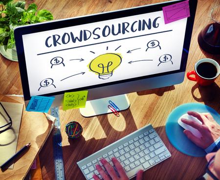 crowdsourcing: Crowdsourcing Collaboration Content Information Concept