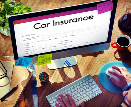 shopping questions: Car Insurance Claim Form Concept