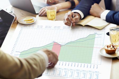 measurements: Business Graph Measurements Data Presentation Concept