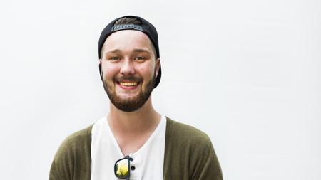 caucasian ethnicity: Caucasian Ethnicity Handsome Man Cheerful Concept