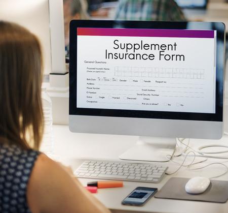 supplement: Supplement Insurance Form Concept Stock Photo