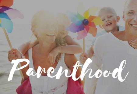 positivity: Summer Vacation Family Positivity Concept Stock Photo