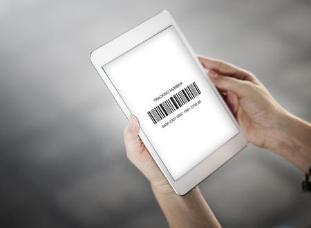 merchandise: Barcode Label Merchandise Information Concept Stock Photo