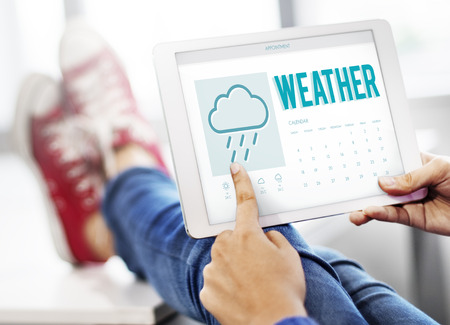 to foresee: Weather Forecast Rainy Cloud Concept Stock Photo