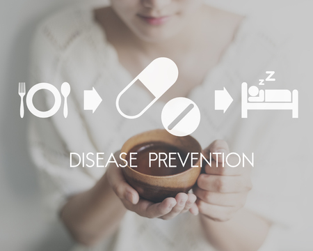 disease prevention: Disease Prevention Medical Health Wellbeing Concept